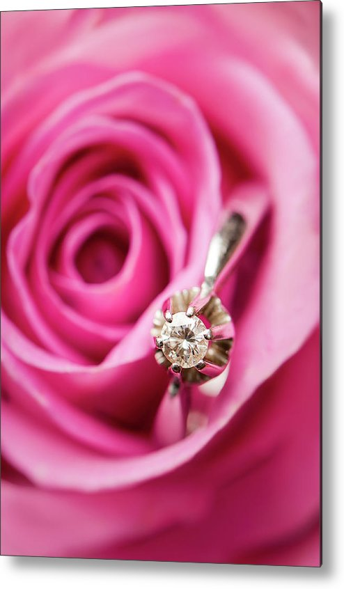 Vertical Metal Print featuring the photograph Marriage Proposal by Elias Kordelakos Photography