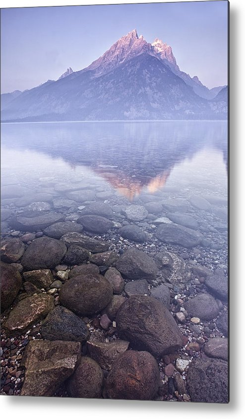 Mountain Metal Print featuring the photograph Morning Reflection by Andrew Soundarajan