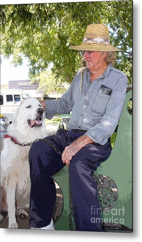 Dog Metal Print featuring the photograph My Friend Bud by David Carter