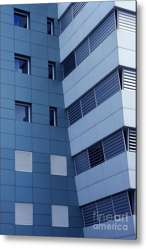 Abstract Metal Print featuring the photograph Office Building by Carlos Caetano