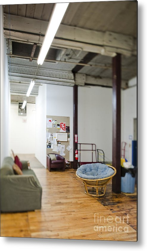 Architecture Metal Print featuring the photograph Office Waiting Area by Eddy Joaquim