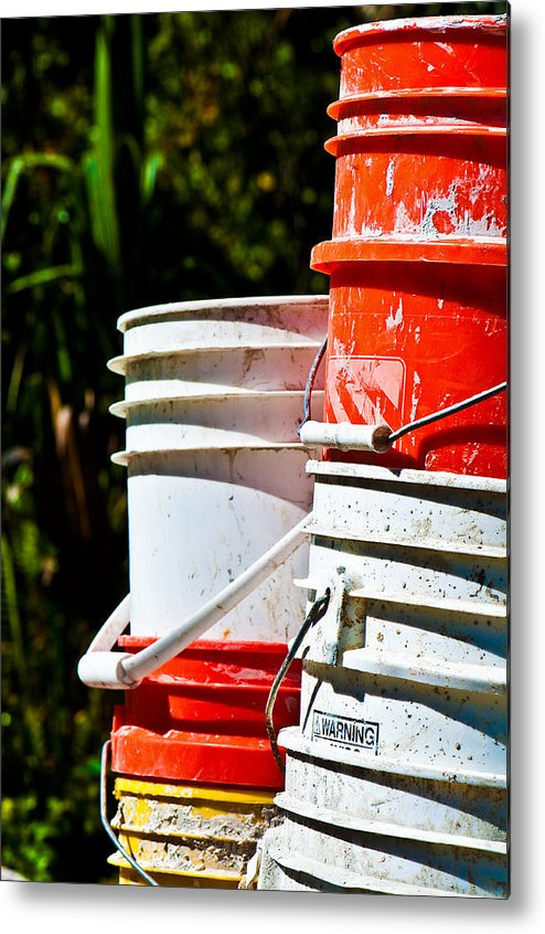 Buckets Metal Print featuring the photograph Oh Bucket by Christine Stonebridge