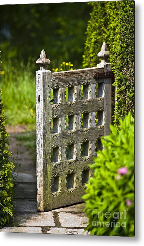 Architektur Metal Print featuring the photograph Old Garden Entrance by Heiko Koehrer-Wagner