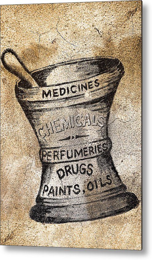 Public Metal Print featuring the photograph Old Time Medicine Ad by Wendy White