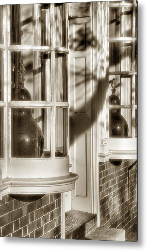 Architecture Metal Print featuring the photograph Old Town Windows by Steven Ainsworth