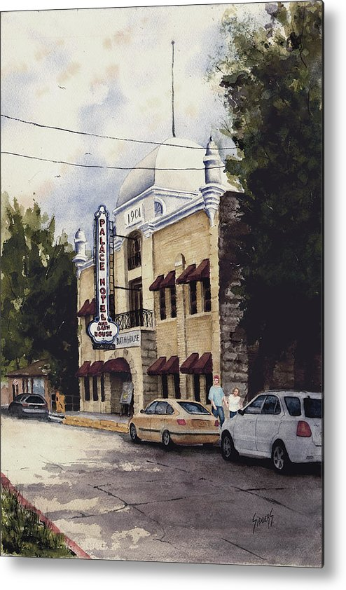 Hotel Metal Print featuring the painting Palace Hotel by Sam Sidders