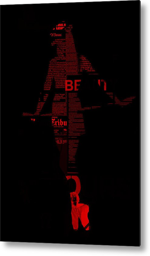 Tap Metal Print featuring the photograph Paper Doll by Naxart Studio