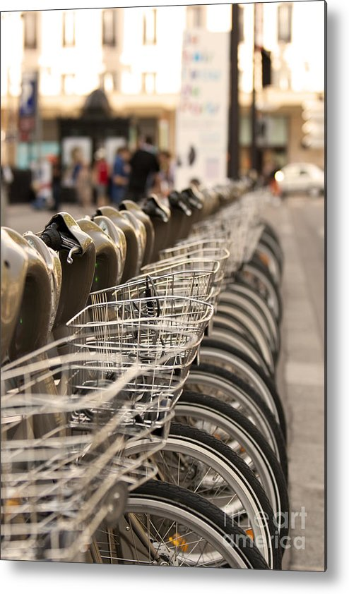 Bicycle Metal Print featuring the pyrography Paris Bikes by Igor Kislev