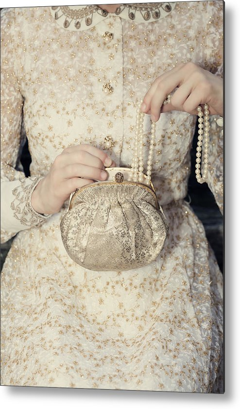 Female Metal Print featuring the photograph Pearls by Joana Kruse