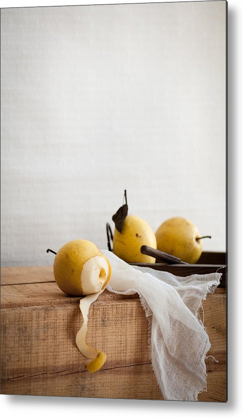 Vertical Metal Print featuring the photograph Pears by Feryersan