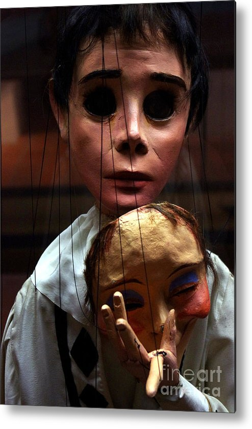 Pierrot Metal Print featuring the photograph Pierrot Puppet by Mona Edulesco