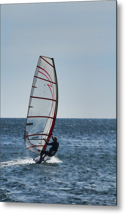 Windsurfer Metal Print featuring the photograph Powered By Wind by Douglas Barnard