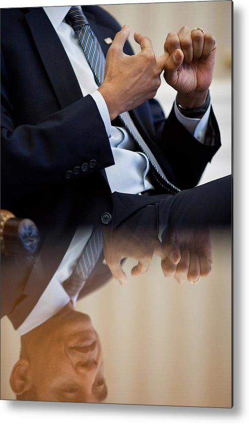 History Metal Print featuring the photograph President Barack Obama Gestures by Everett