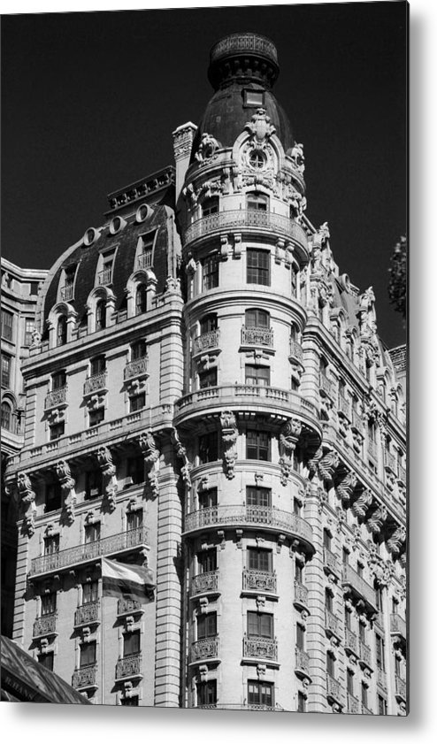Black And White Metal Print featuring the photograph Rainbows And Architecture In Black And White by Rob Hans