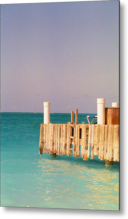 Ocean Metal Print featuring the photograph Relaxing In Aqua by Carol Steele