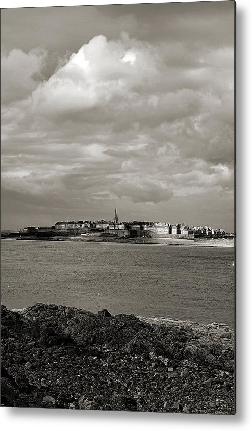 Saint-malo Metal Print featuring the photograph Saint-malo From Dinard. by RicardMN Photography