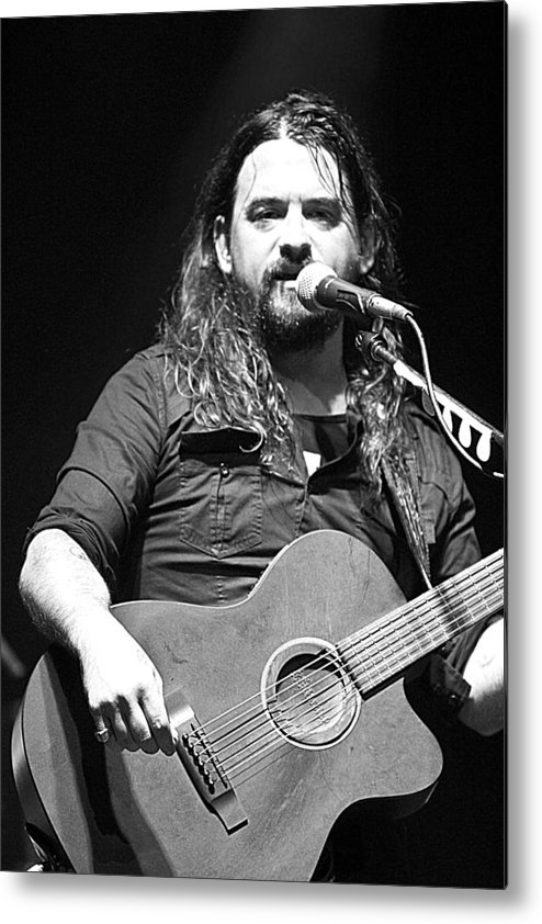 Shooter Metal Print featuring the photograph Shooter Jennings - Long Way From Home by Elizabeth Hart