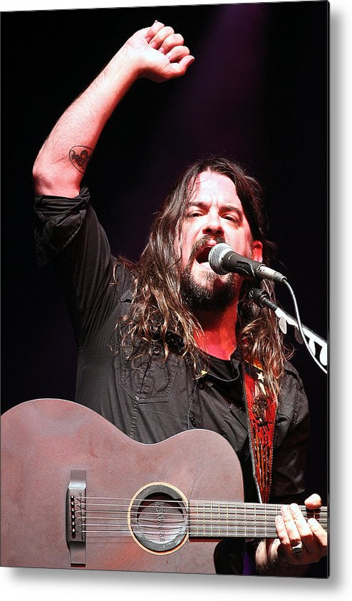 Shooter Metal Print featuring the photograph Shooter Jennings - Takin' It Back by Elizabeth Hart