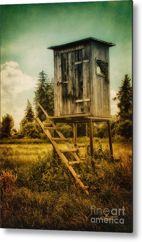 Photo Metal Print featuring the photograph Small Cabin With Legs by Jutta Maria Pusl