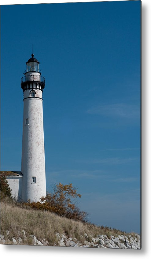 Lighthouse Metal Print featuring the photograph South Manitou Island Lighthouse by David Arment