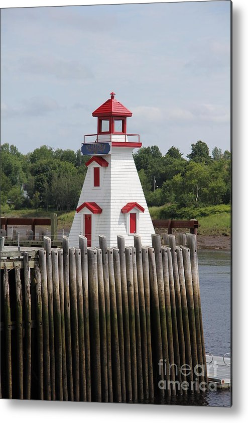St. Stephen Lighthouses Metal Print featuring the photograph St Stephens by Diane Greco-Lesser