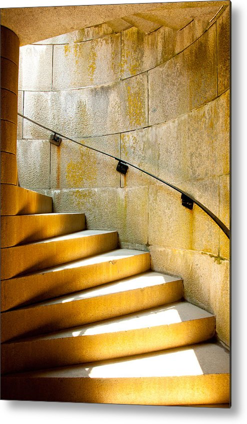Stairs Metal Print featuring the photograph Stairs To Safety by Andrew Bear