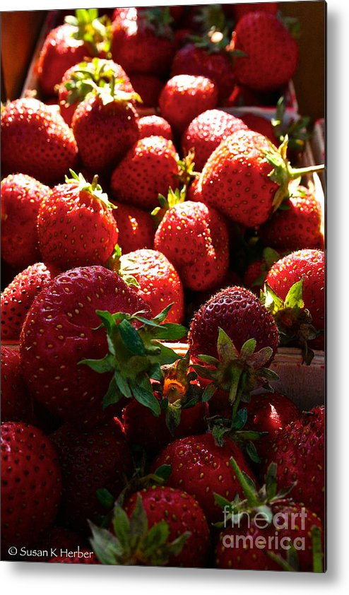 Food Metal Print featuring the photograph Sun Ripened by Susan Herber