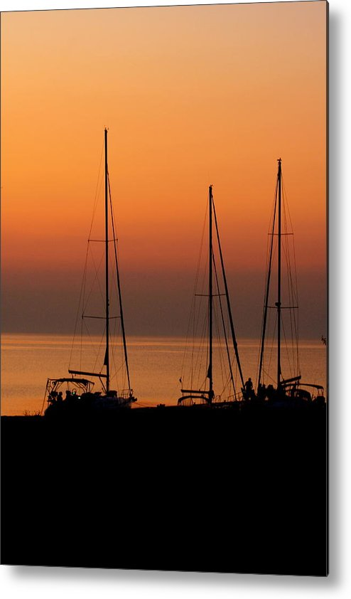 Sunset Metal Print featuring the photograph Sunset Sail by Katy Sunstrom