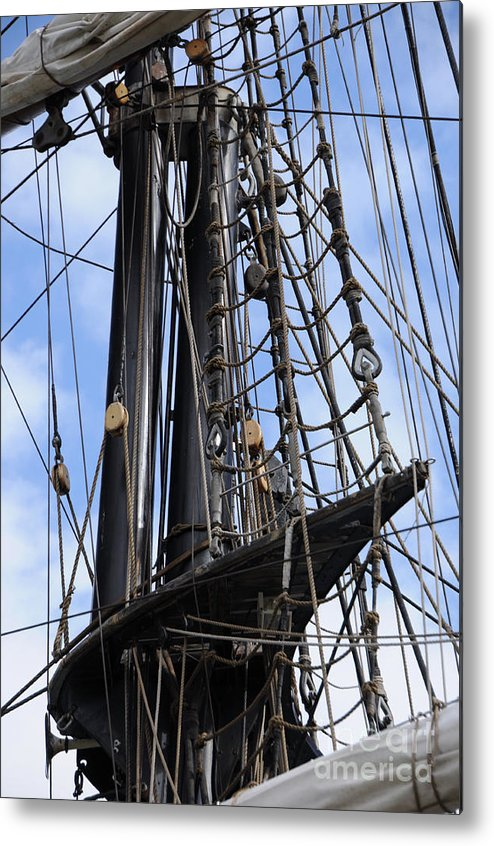 Mast Metal Print featuring the photograph Tall Ship Mast by Ronald Grogan