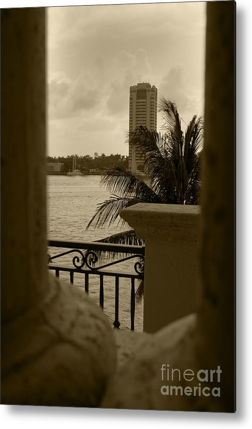 Metal Print featuring the photograph Taupe Terrace by Leanna Rosato