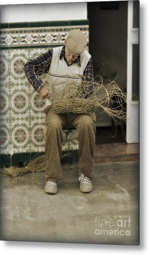 The Basket Maker Metal Print featuring the photograph The Basket Maker by Mary Machare
