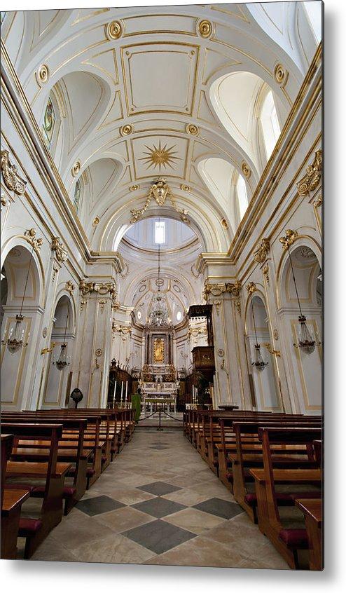 Vertical Metal Print featuring the photograph The Interior Of Santa Maria Assunta by Driendl Group
