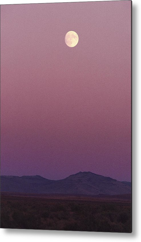 Moons Metal Print featuring the photograph The Moon Shines Over The Landscape by Melissa Farlow