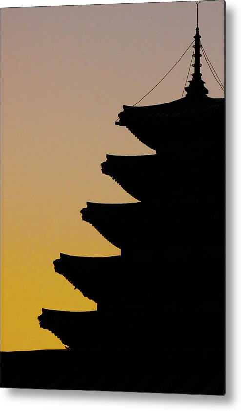 Vertical Metal Print featuring the photograph The Pagoda At Gyeongbukgong In Seoul by Photography by Simon Bond
