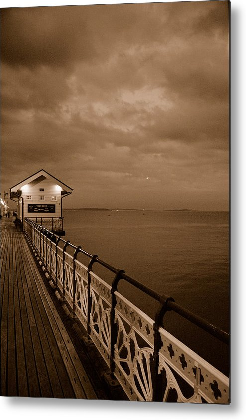 The Pier Metal Print featuring the photograph The Pier by Jenny Potter