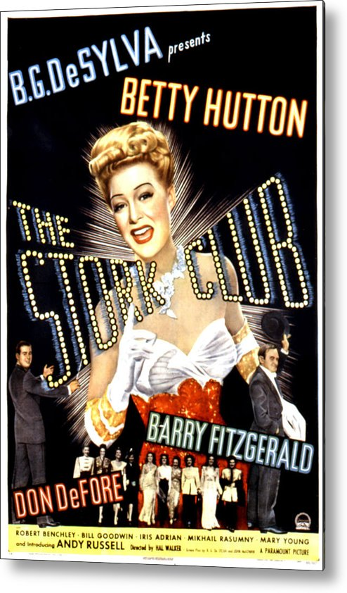1940s Movies Metal Print featuring the photograph The Stork Club, Don Defore, Betty by Everett