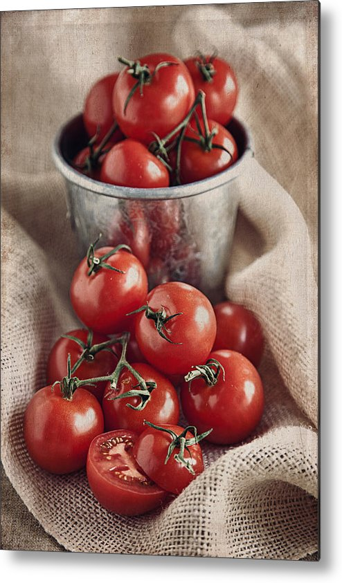 Vertical Metal Print featuring the photograph Tomatoes by Lynne Daley