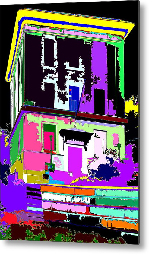 Multicolors Metal Print featuring the photograph Up To by Burney Lieberman
