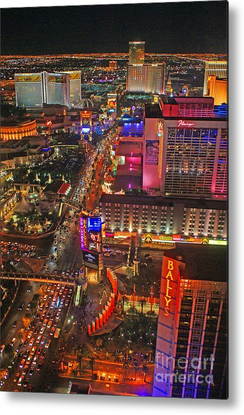 Las Vegas Metal Print featuring the photograph Vegas Strip by Randy Harris