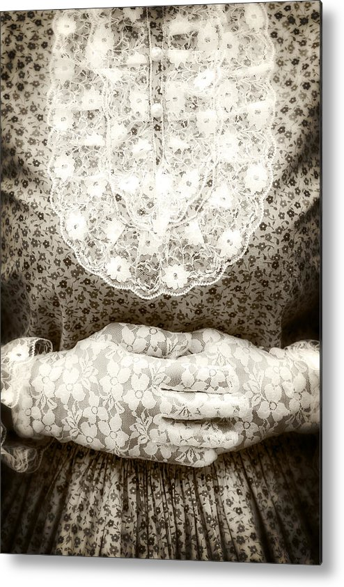 Female Metal Print featuring the photograph Victorian Hands by Joana Kruse
