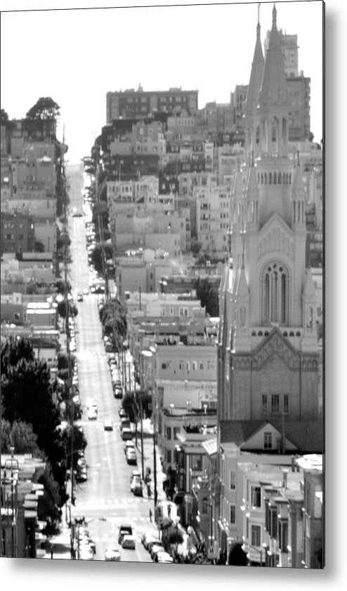Metal Print featuring the photograph View Down Filbert St. by Mychele White