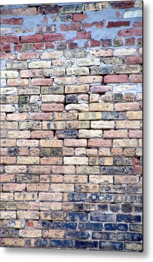 Milwaukee Metal Print featuring the photograph Warehouse Brick Wall by Anita Burgermeister