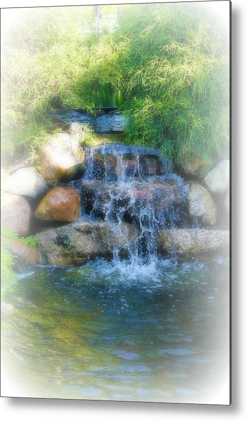 Water Metal Print featuring the photograph Waterfall by Rebecca Frank