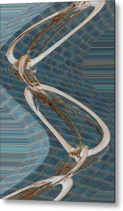 Waved Rings Metal Print featuring the photograph Waved Rings by Cyryn Fyrcyd