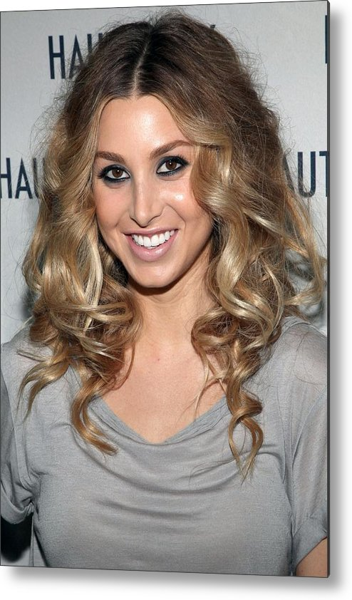 Whitney Port Metal Print featuring the photograph Whitney Port In Attendance by Everett