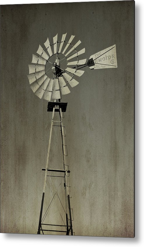 Windmill Metal Print featuring the photograph Windmill by Aaron Parrill