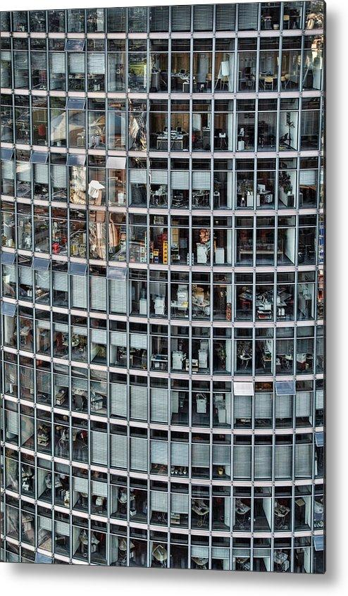 Vertical Metal Print featuring the photograph Windows Again, Berlin by Eike Maschewski