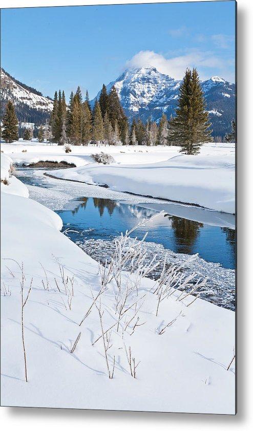 Idaho Metal Print featuring the photograph Winter Stream by D Robert Franz