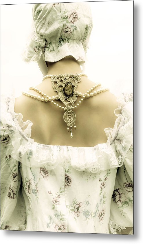 Woman Metal Print featuring the photograph Woman With Bonnet by Joana Kruse