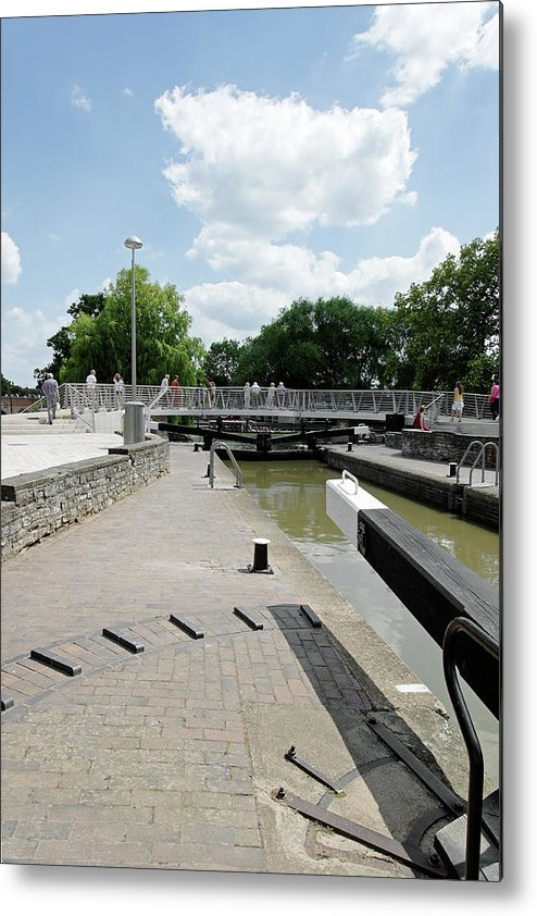 Europe Metal Print featuring the photograph Bancroft Basin - Canal Lock by Rod Johnson
